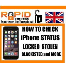 FOR iPHONE iPAD CHECKS BLACKLIST ALSO SHOWS WHICH NETWORK HAS BARRED