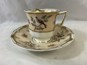 Antique 19th Century Spode China Duo Teacup & Saucer A/F
