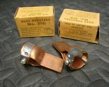 2 Pair NEW Buss 216 Fuse Reducer 0 30 60 A to 100 Amp Clip Class R 250/600 V