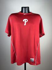 Men's Nike Dri-Fit Fitted Philadelphia Phillies Red MLB Baseball Polyester Shirt