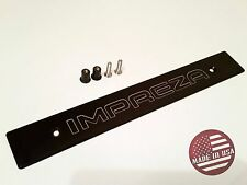[StreetRays] Black Front License Plate Delete with [Impreza] Laser Engraved Logo