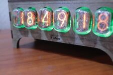 IN-12 NIXIE TUBE CLOCK VINTAGE Pulsar ASSEMBLED ADAPTER 6-tubes by RetroClock
