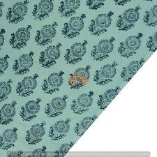 By The Yard Handmade Block Print 100%Cotton Voile Fabric Running Dressmakingbuta