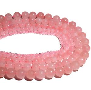 4mm 40PCS Round Natural Pink Crystal Gemstone Loose Beads