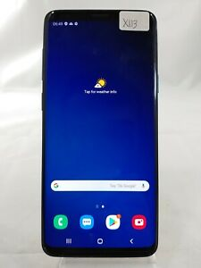 Samsung Galaxy S9+ SM-G965F 256GB AT&T GSM Unlocked Duos Smartphone Blue X113