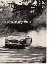 1962 AUSTIN-HEALEY MK II ~ ORIGINAL 4-PAGE ROAD TEST / ARTICLE / AD