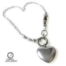 Modeschmuck-Halsketten & -Anhänger aus Glas und Legierung mit Herz für Damen