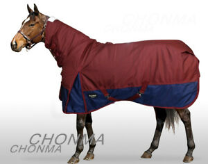 1680D 300G Fill Winter Waterproof Full Neck Combo Red Turnout Pony Horse Rugs