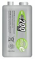 BATTERY 9V 200MAH PRECHARGED 1PK Batteries Rechargeable - CM84674