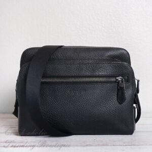 NWT Coach 91484 West Camera Bag Leather Crossbody in Black
