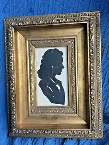 Vintage Framed & Glazed John Ross Silhouette of a Lady Luna Park Ekka Show etc