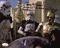 TERRY McGOVERN Signed 8X10 Photo STAR WARS STORMTROOPER Autograph JSA COA Cert