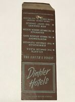 Dinkler Hotels Vintage Matchbook Cover New Orleans Atlanta Nashville Birmingham