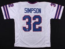 O.J. Simpson Signed Buffalo Bills White Home Jersey (JSA) 5× Pro Bowl R.B.