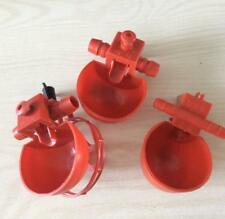 10 X Feed Automatic Poultry Water Drinking Cups Birds Coop Chicken Fowl Drinker