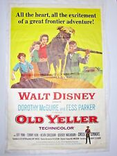 OLD YELLER 1965 One-Sheet Poster 27x41 Dorothy McGuire, Fess Parker, Tommy Kirk