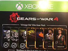 Gears of War 4 'Vintage Del' Elite Gear Pack DLC Card Xbox ONE AU *BRAND NEW*