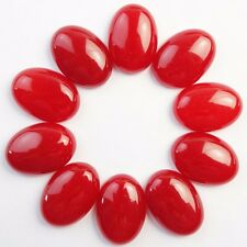 10Pcs 25x18x7mm Red Jasper Oval CAB CABOCHON QS4