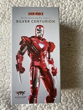 Comicave Iron Man Mk 33 Silver Centurion, scales w/ SH Figuarts US Seller