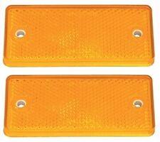 2 X Genuino Ifor Williams Naranja/Ámbar lado rectángulo reflector-P0696