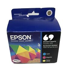 Epson 69 Color Ink Cartridges, 3 color  New and Sealed Expired 4/12