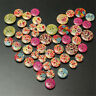20~100pcs Wooden Painting Buttons Fit Sewing & Scrapbook DIY Craft 13mm - 23mm