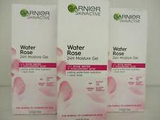3 GARNIER SKIN ACTIVE WATER ROSE 24HR MOISTURE GEL  2.4 oz EA. EXP: 6/22 BB 2549