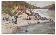c. 1910 John Innes Postcard ~ THE PORTAGE ~ Troilene Primitive Transport Series