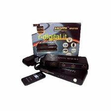 HDMI 3 PORTE SWITCH HD TV SDOPPIATORE SPLITTER MONITOR TELECOMANDO ALIMENTATORE