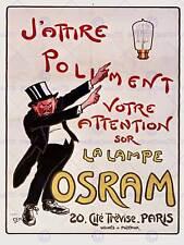 Pubblicità vintage gourset ELECTRIC LUCE LAMPADINA PARIGI art print poster hp213