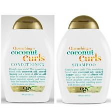 Ogx ~ QUENCHING + COCONUT CURLS Shampoo and Conditioner Set 13 oz~