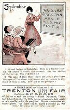 1916 TRENTON NJ - Inter-State Fair Sept. 25-26 - Solve Puzzle Win Ticket  NON-PC