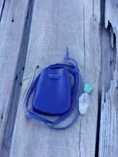 Purple leather bag, leather medicine bag, leather crystal bag, neck bag