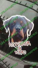 Rottweiler On Board Funny Car Van Window Sticker Dog Vinyl