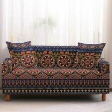 Blue Multi-Color Bohemian Ethnic Pattern Sofa Couch Cover Slipcover