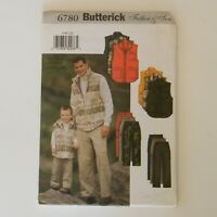 Butterick Sewing Pattern 6780 Vest and Pants Father Son All Sizes Included 2001