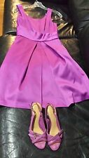 Max and Cleo Dress Knee Length Color Viola Size 4 w matching Nine West Shoes 6M