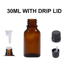 330pcs 30ml amber glass Reagent bottle dripolator for aromatherapy essential oil