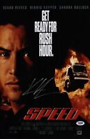 KEANU REEVES SIGNED SPEED 11X17 MOVIE POSTER PSA COA AD48217
