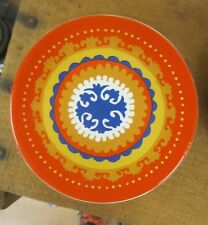 Small Ceramic Tea Bag Plate BEAUTIFUL Orange Design