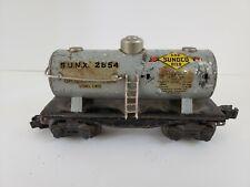 Vintage Lionel Lines Train Car SUNX 2654 Gas Sunoco Oils Railroad 3 Dome Tanker