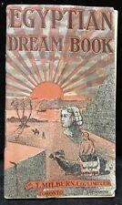 1937 THE ORIGINAL EGYPTIAN DREAM BOOK - T.Milburn Co.Ltd., Toronto