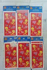 Vintage Tweety Bird Stickers Looney Tunes 2001 Hallmark LOT OF 24 SHEETS