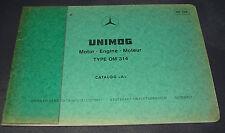 Ersatzteilkatalog Mercedes Unimog Motor OM 314 ET Katalog Stand April 1975
