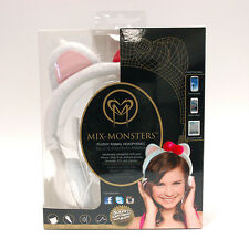 NEW Mix-Monsters White Kitty Headphones for iPhone, iPad and Android Smart Phone