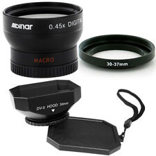 Albinar 30mm Wide Angle Lens,square Hood for Sony DCR-SR82,DCR-SR82E,DCR-SR85