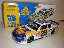 2001 KEVIN HARVICK signed 1/24th NASCAR DIECAST CAR GM GOODRENCH AOL RCR RACING