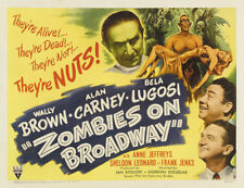 Zombies on Broadway 1945 Bela Lugosi Horror movie poster print
