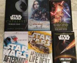 Lot 6 Star Wars Books Hardcovers 1st Editions Catalyst, Rogue One, Aftermath +