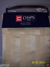 "Chaps Dumont Stripe Gold Damask Lined Tailored Valance 54 x 17""  Washable NEW"